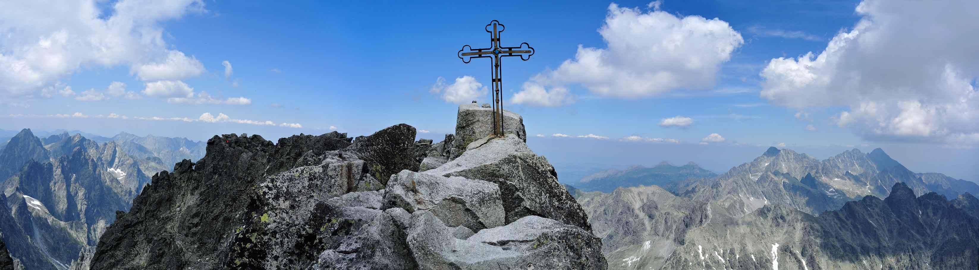 Gerlachovský štít s horským vodcom